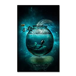 Trademark Fine Art Two Lost Souls Artwork by Erik Brede, 12 by 19-Inch