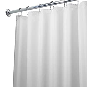 Amazon.com: InterDesign Fabric Waterproof Shower Curtain Liner ...