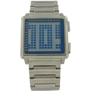 Esprit ES000BO1003 - Reloj digital de caballero de cuarzo con correa de acero inoxidable plateada - sumergible a 30 metros