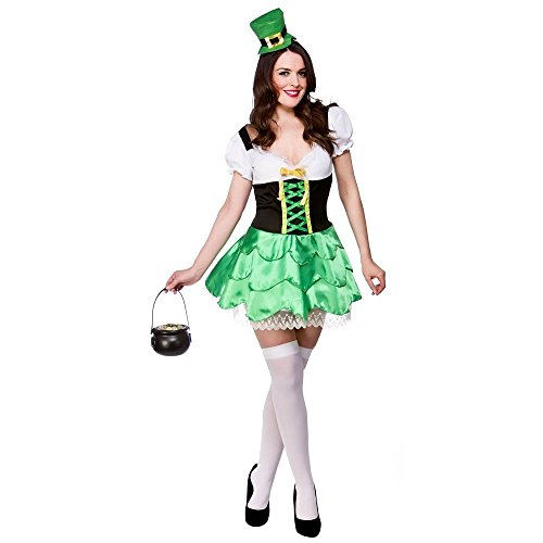 Adult Ladies Cheeky Leprechaun Costume Women Fancy Dress