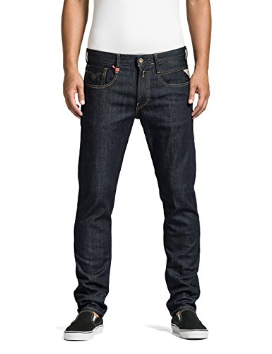 Replay Herren Slim Jeans Anbass, Gr. W34/L34 (Herstellergröße: 34), Blau (Blue Denim 7) thumbnail