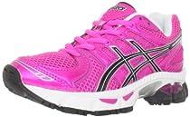 ASICS GEL-Nimbus 14 GS Running Shoe (Little Kid/Big Kid),Neon Pink/Black/White,7 M US Big Kid