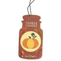 Yankee Candle Spiced Pumpkin Classic Car Jar Air Freshener
