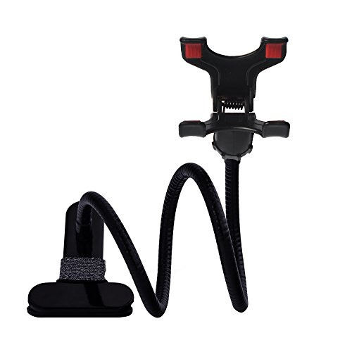 PYS 360 Degree Universal Flexible Long Arm Cell Phone Clip Holder Stand Lazy Bracket Mobile Stand for Bedroom Office Bathroom Kitchen Clip on Table Desk Bed for Iphone Samsung HTC Ect (Magic Holder Position Wall compare prices)