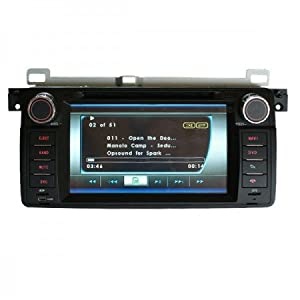 Piennoer Original Fit (1998-2006) BMW Z4 6-8 Inch Touchscreen Double-DIN Car DVD Player & In Dash Navigation System,Navigator,Built-In Bluetooth,Radio with RDS,Digital TV( ATSC TV for USA,Canada,Mexico,Korea South), AUX&USB, iPhone/iPod Controls,steering wheel control, rear view camera input