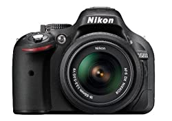 Nikon D5200 24.1MP Digital SLR Camera (Black) with AF-S 18-55 mm VR II Kit Lens + Camera Bag + Free 16GB (Class 10) SD Card