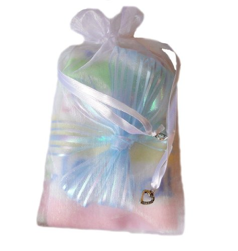 Miracle Baby - Keepsake Receiving Blanket (Light Blue Bow)