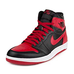 Nike Men\'s Air Jordan 1 High The Return Black/Gym Red/White 768861-001 (SIZE: 10.5)