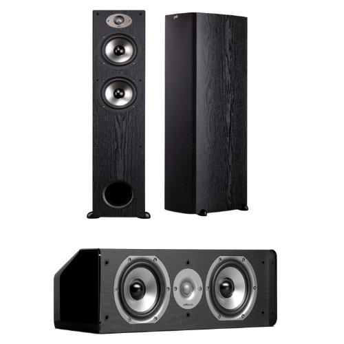 Polk Audio Tsx 330T Floorstanding Speakers (Pair) Plus A Polk Audio Cs10 Center Channel Speaker