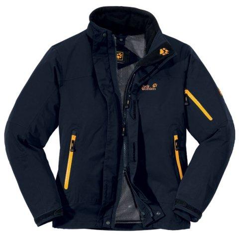 JACK WOLFSKIN Men's Resolution Jacket, Blue, S