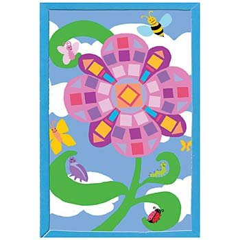 Flower and Garden Bugs Foamies Mosaic Art Kit