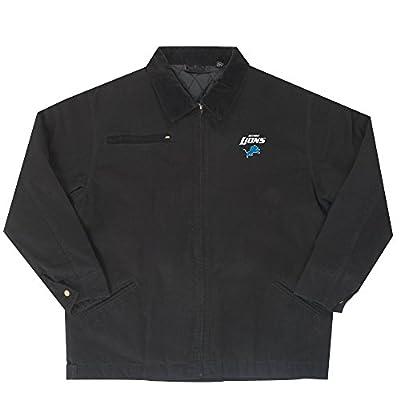 NFL Detroit Lions Tradesman Canvas Quilt Lined Jacket, Black, 3X-Large
