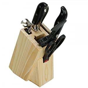 Durable Kitchen Knives Block Set 7 PCS