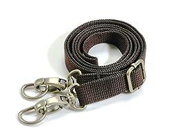byhands Adjustable Webbing Shoulder Cross Strap with Bronze Style Ring,28.7\