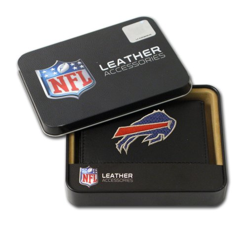 NFL Buffalo Bills Embroidered Trifold Leather Wallet at Amazon.com