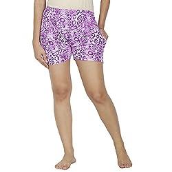 Klamotton Cool Cotton Printed Shorts Ks09_Tgr_Prpl