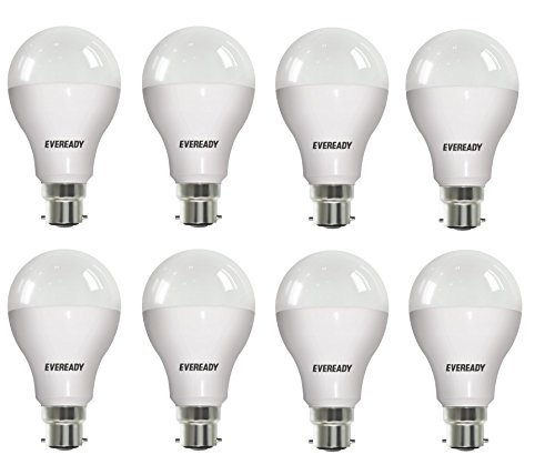 Eveready 12W B22D LED Bulb (Cool Day Light, Pack of 8)