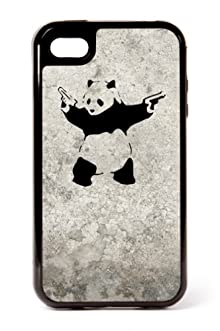Banksy Panda iPhone 4 3 Piece Case by Chargrilled