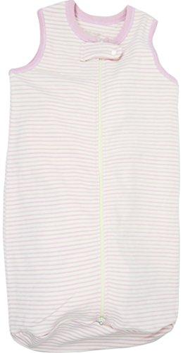 G.O.T.S Organic Cotton Unisex Baby Sleepsack Sleepwear, 100% Natural Dye-Free, Pink Stripes 6-9M