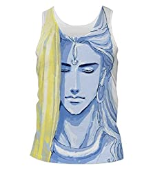 Snoogg Tegaki Shiva 2798 Mens Casual Beach Fitness Vests Tank Tops Sleeveless T shirts