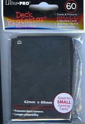 Ultra Pro Card Supplies YUGIOH Deck Protector Sleeves Black 60 Count