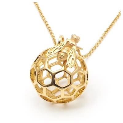 Honeycomb Bee Orb Necklace by Bill Skinner||RF20F