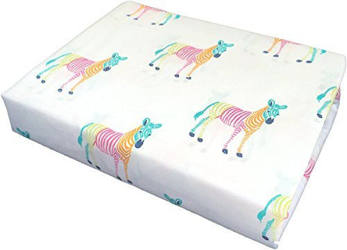 rainbow-striped-blue-green-pink-orange-zebras-on-white-sheets-4pc-set-full-by-kensie