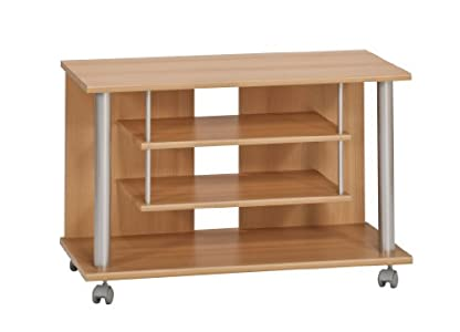 The Best  Maja 18988831 TV and Video Trolley 800 x 545 x 400 mm Beech Finish
