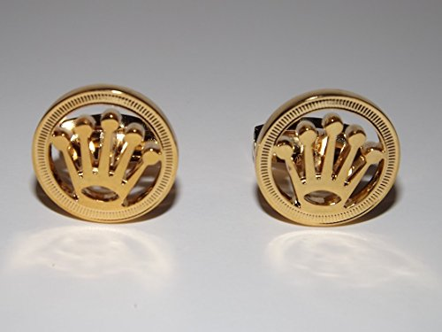 Rolex Gold Plated Cufflinks New Boxed