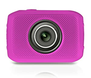 Pyle PSCHD30PN Mini High-Definition Sports Action Wide-Angle HD Camera & Camcorder, 720p, SD Card Slot, Touchscreen (Pink)