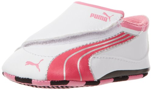 PUMA Drift Cat 4 LW Crib Tennis Shoe (Infant/Toddler),White/Virtual Pink/Sachet,2 M US Infant