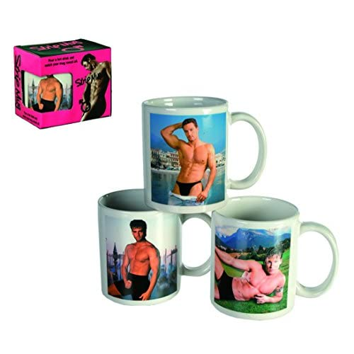 Stripping Man Mug - Mugs, Cup, Cups - Womans, Woman, Lady, Ladies, Her Great Sexy, Fun, Cheeky, Naughty, Joke...