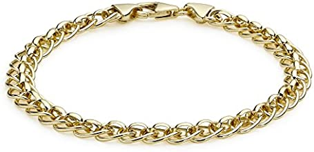 Carissima Gold 9 ct Yellow Gold Roller Ball Link Bracelet of 19 cm/7.5-inch