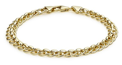 Carissima Gold Roller Ball Link 9 ct Yellow Gold Bracelet of 19 cm/7.5 inch