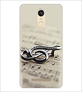 PrintDhaba Staff Notation D-2149 Back Case Cover for XIAOMI REDMI NOTE 3 PRO (Multi-Coloured)