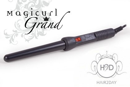 H2D Magicurl Grand black gloss Curling Wand