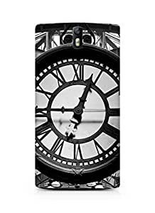 Amez designer printed 3d premium high quality back case cover for Oneplus One (New York Clock)