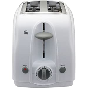 Chefman 2-Slice Toaster with Extra-Wide Slots in White by Chefman