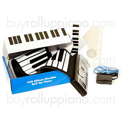 Roll Up Piano &#8211; Digital &#038; Portable 61 Keys Electronic Keyboard with Built-in Record &#038; Play Back Functions, Dual USB Out &#038; MIDI Out, USB Cable &#038; AC Adapter Included. Promotional Sales!!!