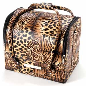 Beauty Makeup Therapist Artist Cosmetics Case Leopard