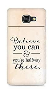 AMEZ believe you can and you are there halfway Back Cover For Samsung Galaxy A5 (2016 EDITION)