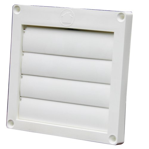 Speedi-Products EX-HLFW 04 4-Inch Diameter Louvered Plastic Flush Hood, White No Tailpipe