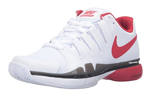 Nike Mens Zoom Vapor 9.5 Tour Tennis Shoe (9, White/University Red/Black) (Vapor Tour 9 compare prices)