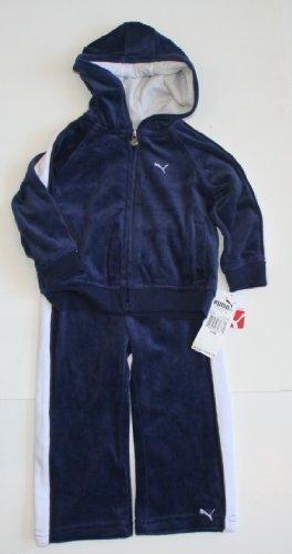 Puma Toddler Girl's 2 Piece Sweatsuit Size: 4T Dark Blue/Soft