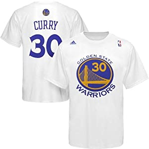 Golden State Warriors Stephen Curry New Logo White T Shirt by adidas