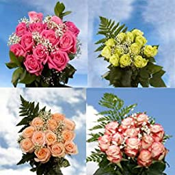 8 Dozen Assorted Color Roses & Fillers