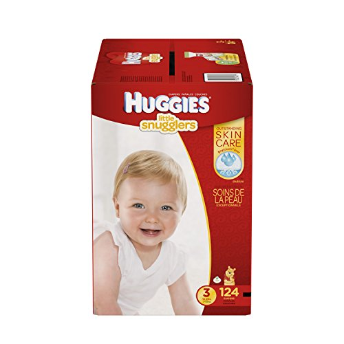 Huggies Little Snugglers Baby Diapers, Size 3, 124 Count (Packaging May Vary) (Huggies Size 3 Diapers compare prices)