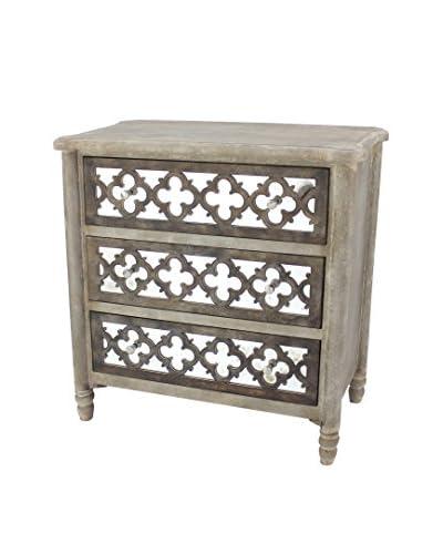 Teton Home Wood Cabinet, Grey