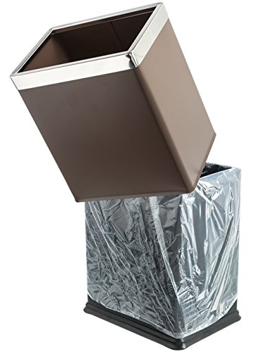 Brelso 39 Invisi Overlap 39 Open Top Metal Trash Can Small