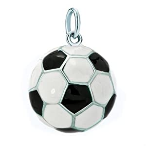 Pugster 925 Sterling Silver Football Sport Link Charm For Charms Bracelet & Pendant Necklace